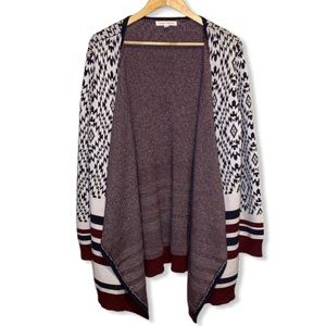 Honey Punch Abstract Waterfall Thick Cardigan